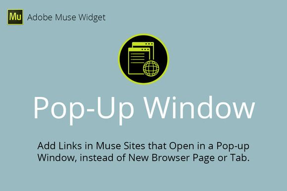 Pop-Up Window Adobe Muse Widget by MuseTemplatesPro on Creative Market