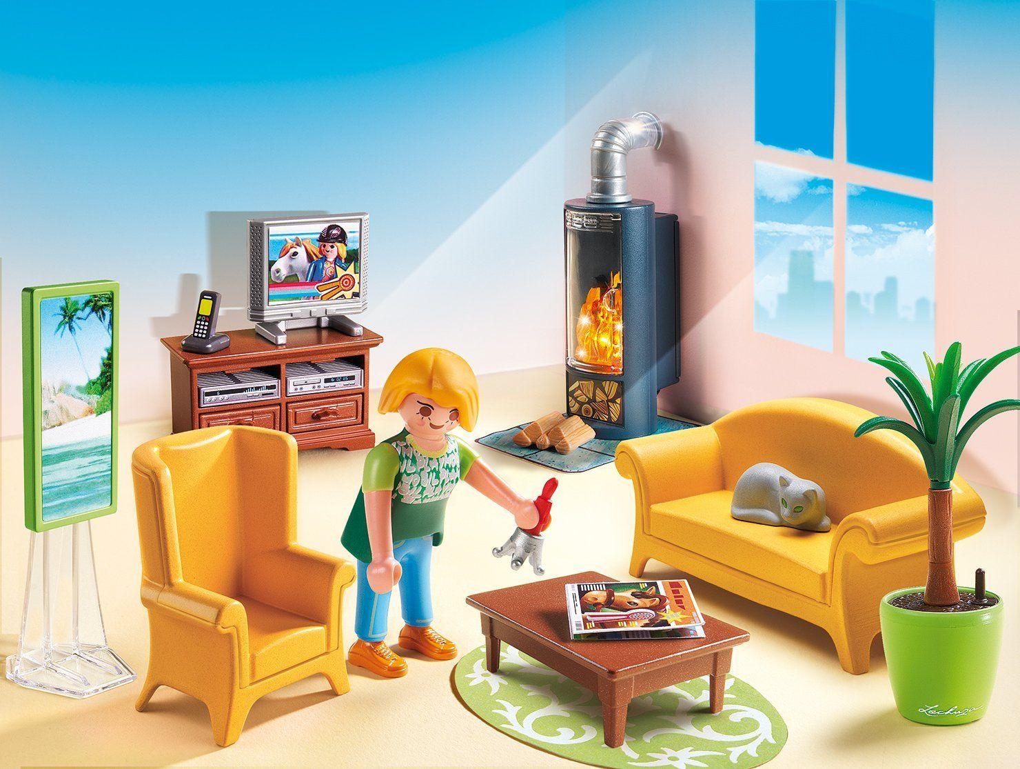 playmobil- 5308 - salon avec poêle à bois: amazon.fr: jeux et, Wohnzimmer dekoo