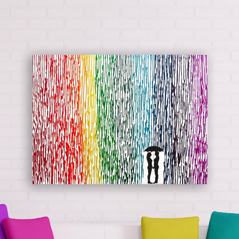 lesbian wedding gift, melted crayon art, rainbow painting, lesbian