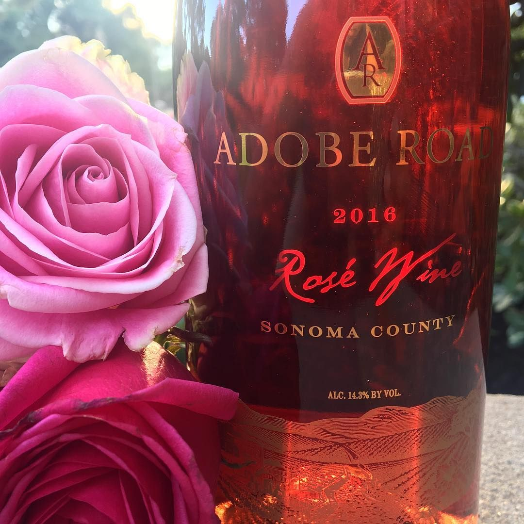 2016 Adobe Road Rose Wine Sonoma Coast The Corkscrew Concierge Thecorkscrewconcierge Instagram Photos An Strawberries And Cream Dreamsicle Sonoma Coast
