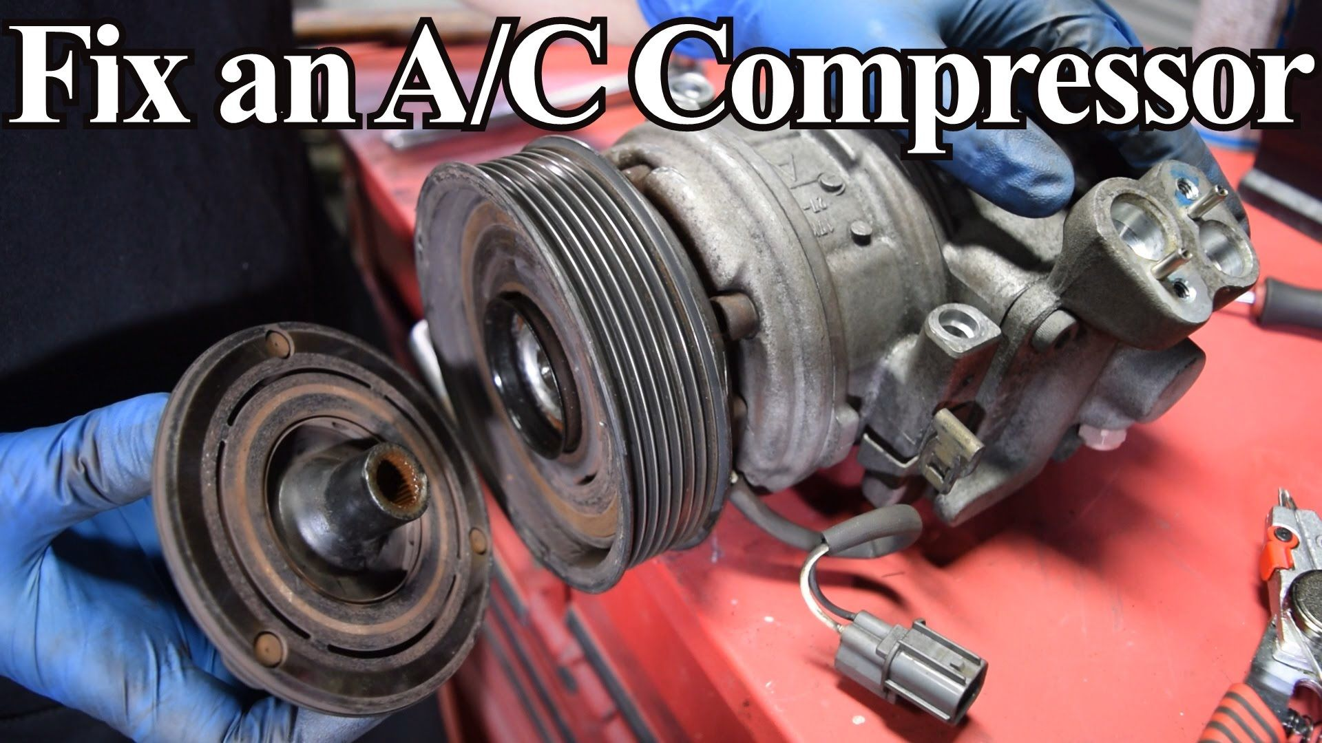 How to Diagnose and Replace an A/C Compressor Coil, Clutch ...