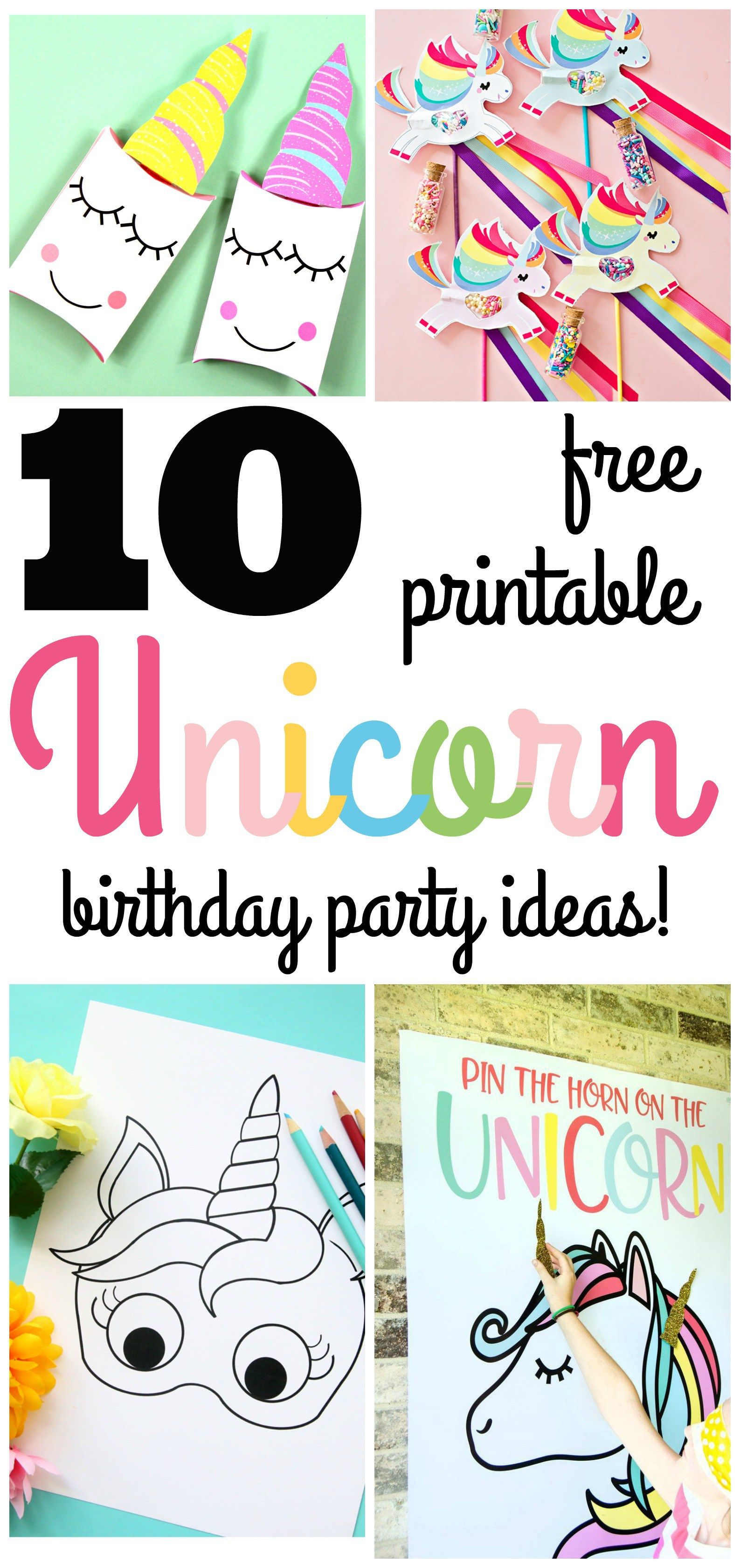 10 Beautiful Unicorn Birthday Party Ideas With Free Printables