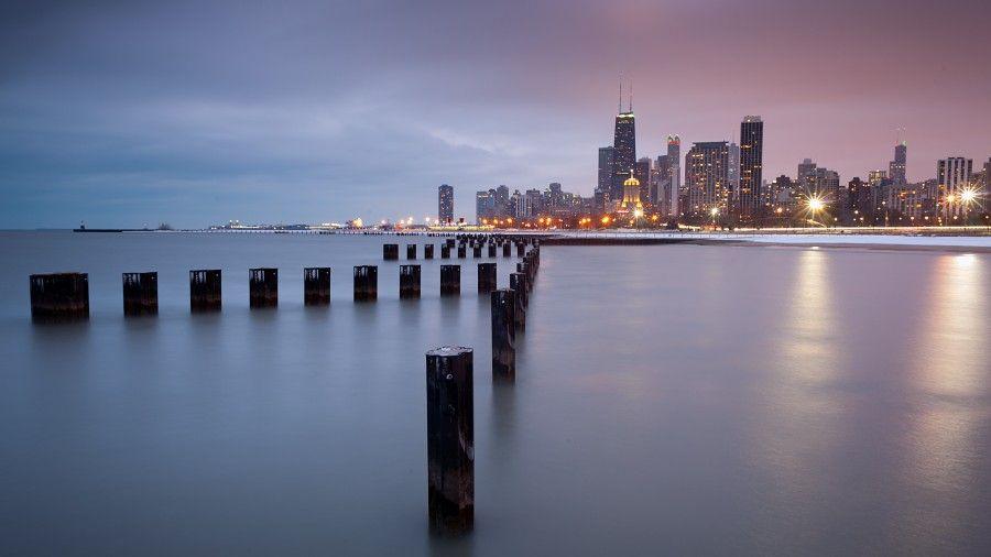 Chicago Lakefront Trail 4K Ultra HD Desktop Wallpaper