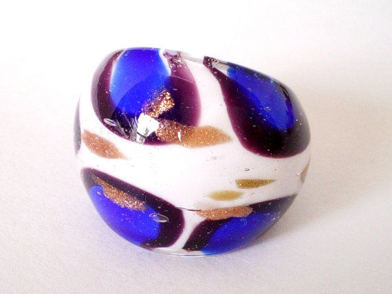 ♥ PLEASE READ COMPLETE DESCRIPTION BEFORE ORDERING!♥ Colorful Blending Durable Murano Glass Ring.  BRAND NEW & COMFORT FIT  Width: About 1 Inch In The