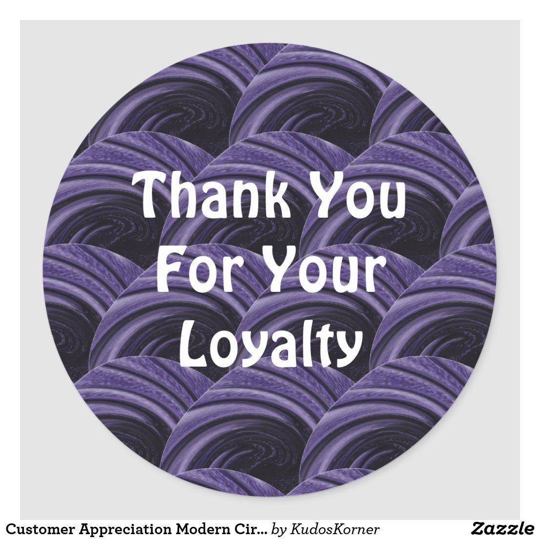 Customer Appreciation Modern Circles Thank You Classic Round Sticker Zazzle Com In 2020 Custom Holiday Card Customer Appreciation Business Stickers