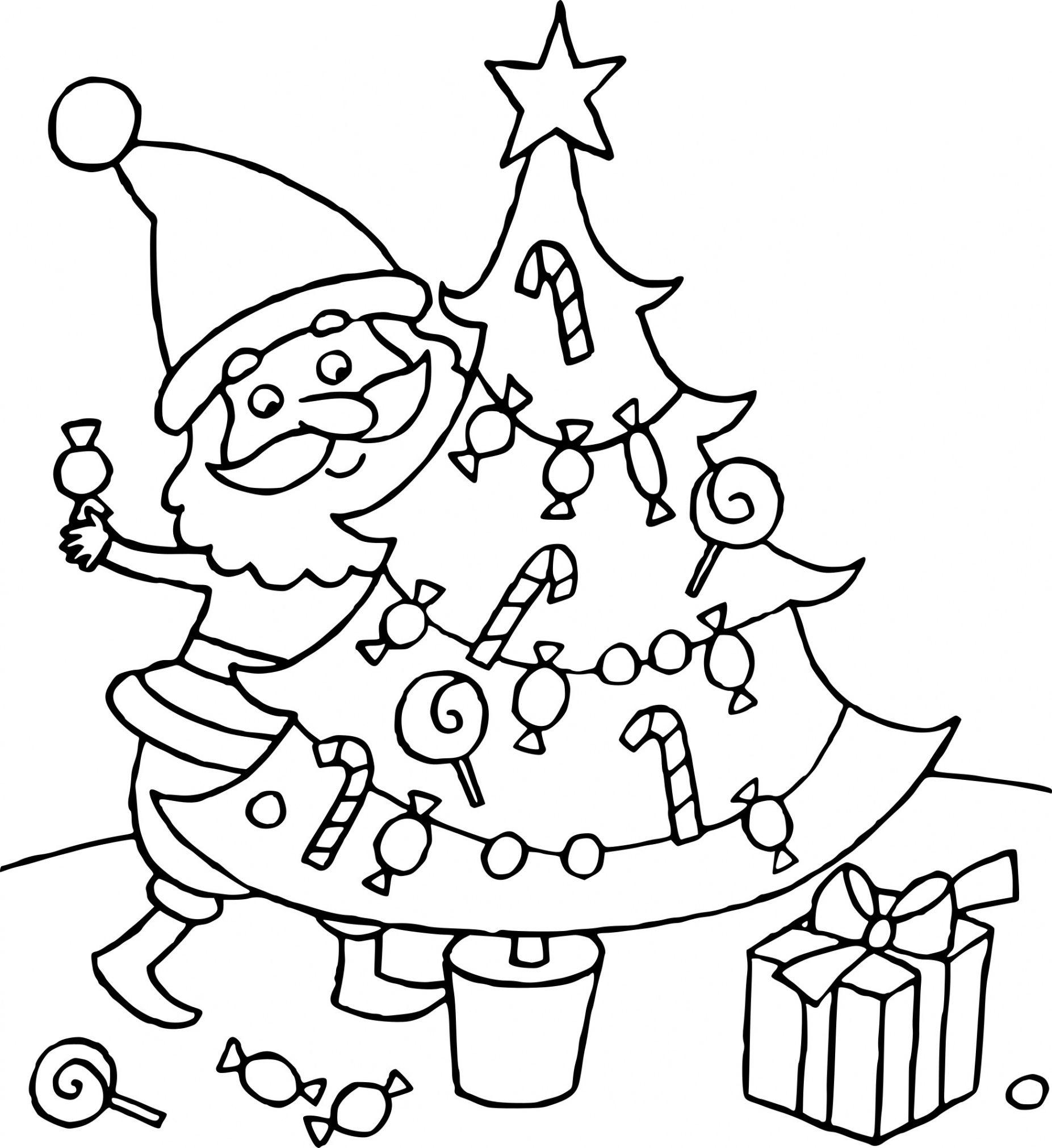 Coloriage Sapin De Noël Cadeaux À Imprimer regarding Dessin Sapin De Noel A Imprimer Gratuit ...