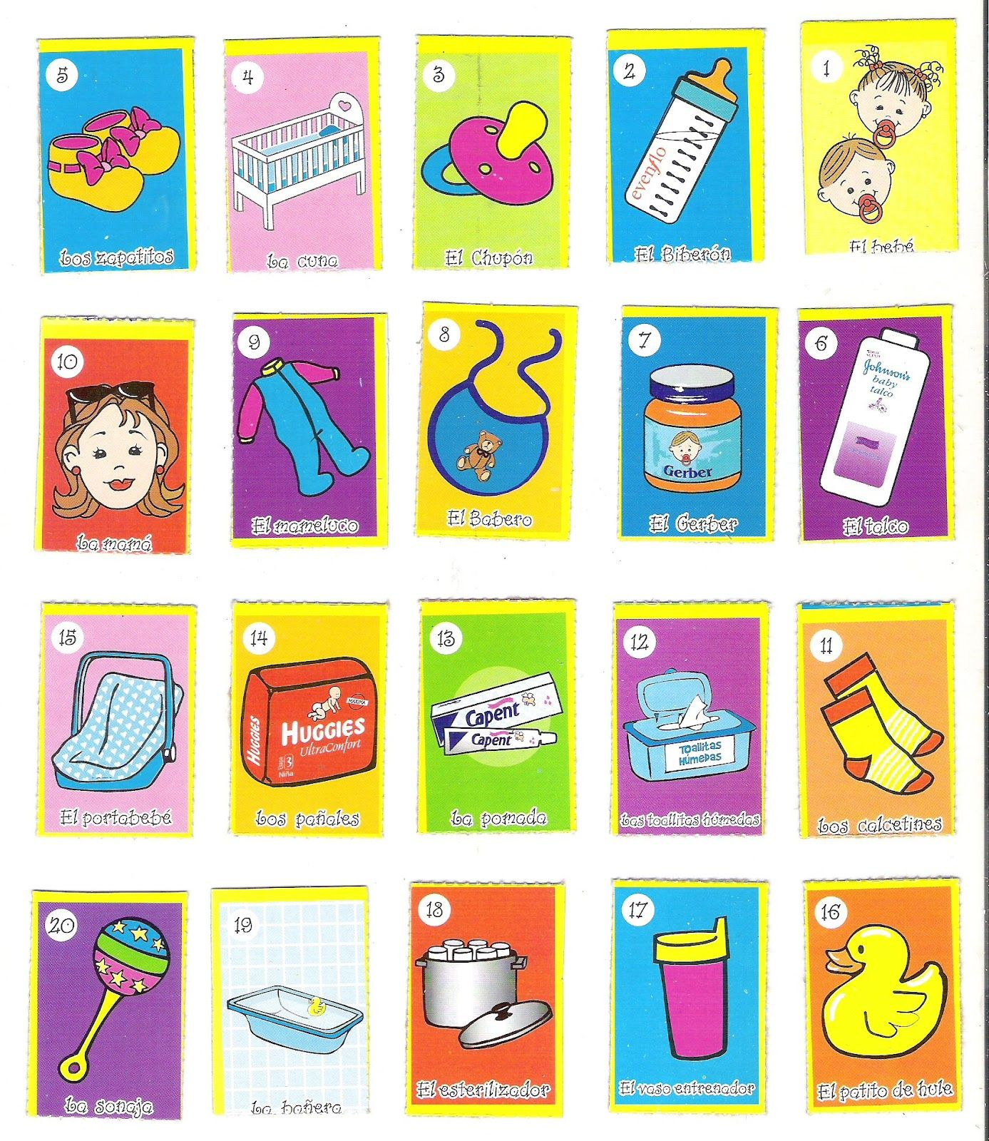 Loteria Para Baby Shower Imprimir Gratis Pdf Imagui | fiestas ...