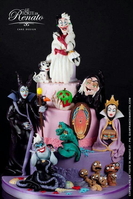 Disney villains cake Cool cakes Pinterest Disney villains and Cake