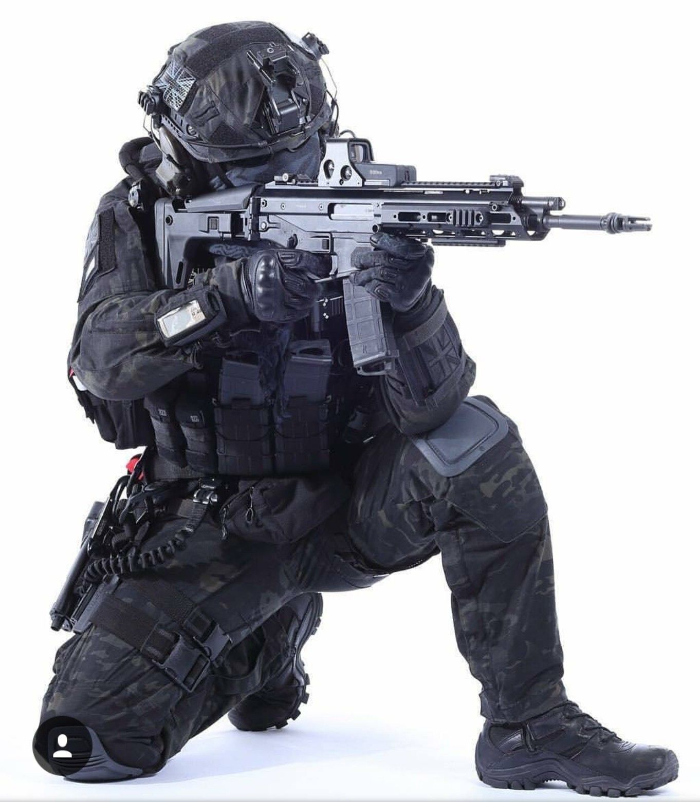 British blackwalker military special forces combat gear