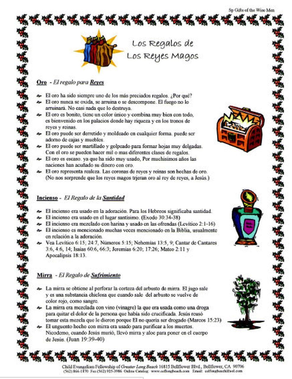 Los Regalos De Los Reyes Magos Gifts Of The Wisemen Los Reyes Magos Christmas Decorations Reyes Magos