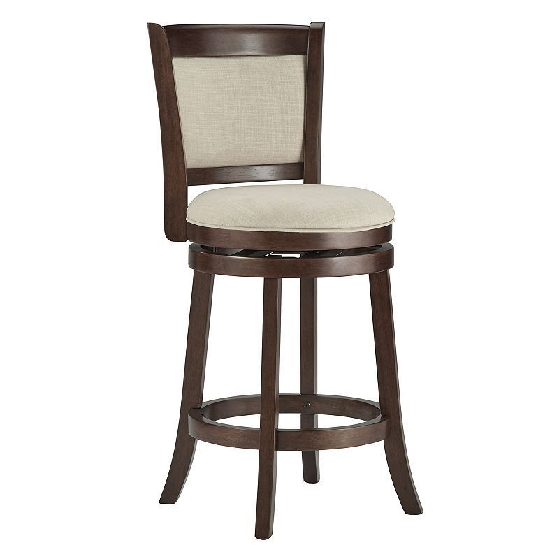 Homevance Ames 24 In Swivel Counter Stool Brown Swivel Counter