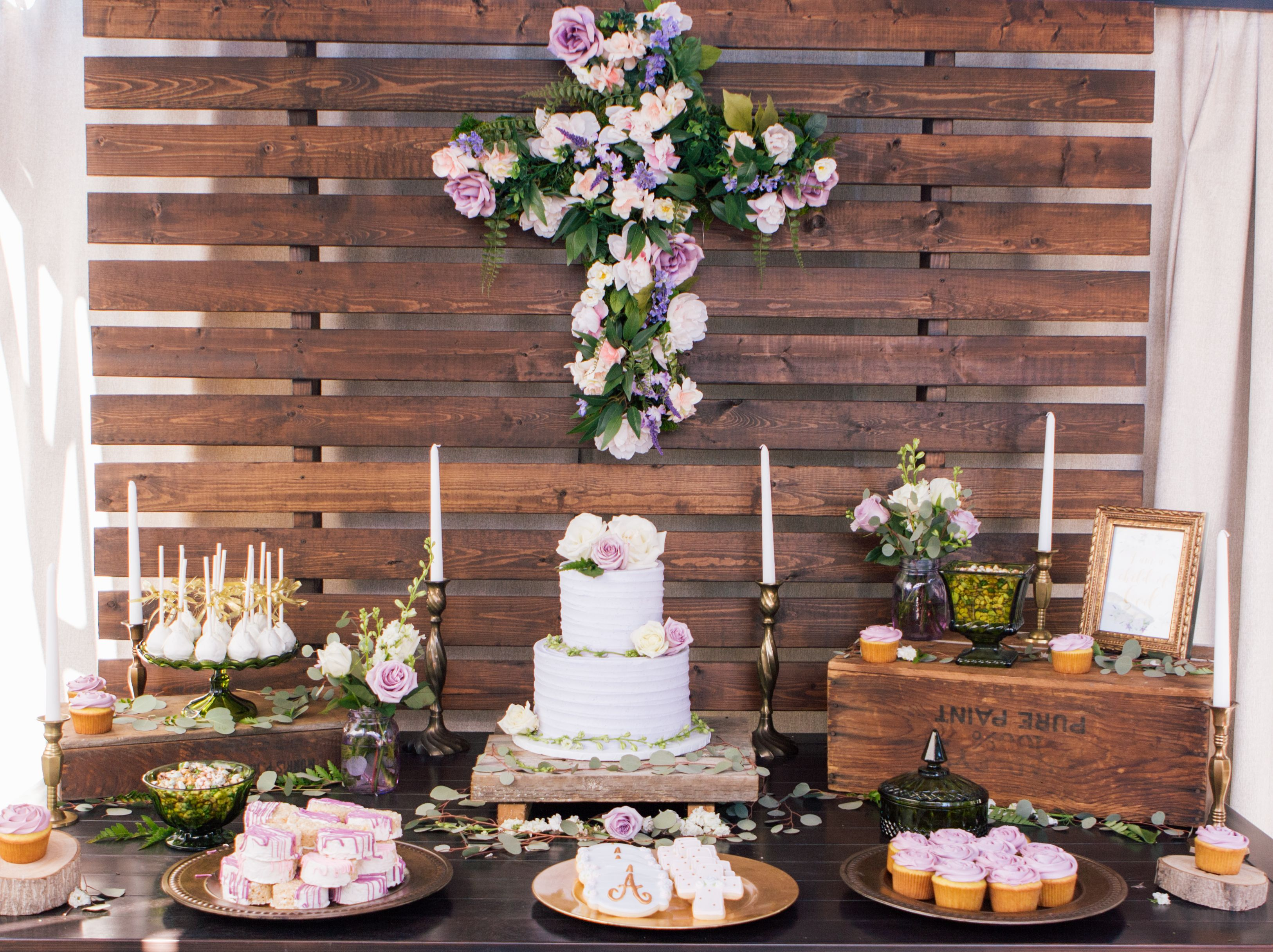 Purple and Gold Baby Baptism - Dedication | Party Ideas