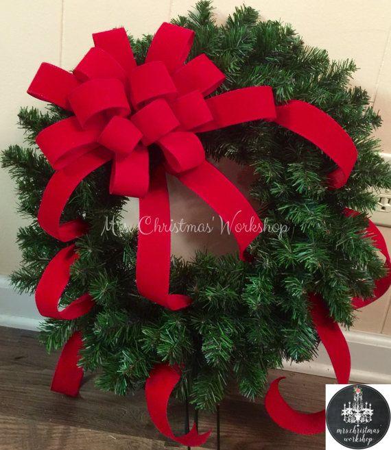 Christmas Wreath Cemetery Wreath Memorial By Mrschristmasworkshop