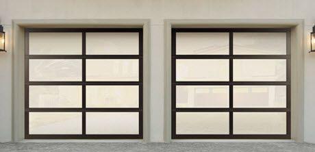 Modern Glass Garage Doors Model 8850 Contemporary Garage Doors Garage Door Styles Garage Doors