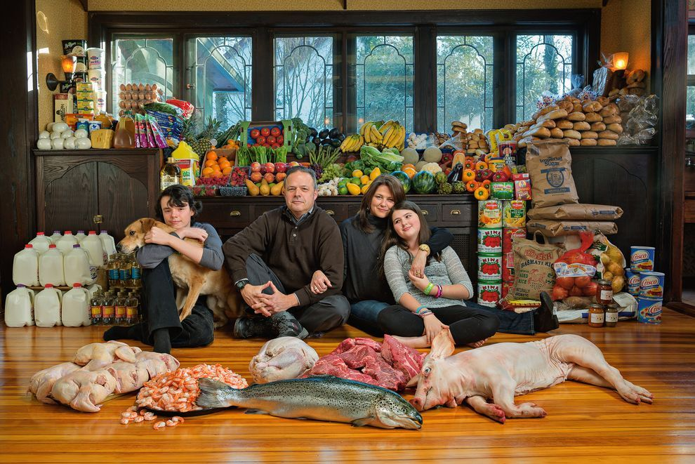 30% of the food we grow is never eaten. Here the Waldt family is surrounded by groceries representing the 1.2 million calories the average family leaves uneaten every year. Stay informed and find out how you can help.  (scheduled via http://www.tailwindapp.com?utm_source=pinterest&utm_medium=twpin&utm_content=post1351673&utm_campaign=scheduler_attribution)