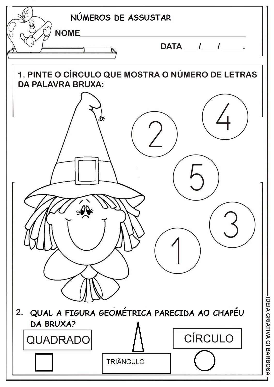 Resultado De Imagem Para Matematica Halloween Pre Escolar