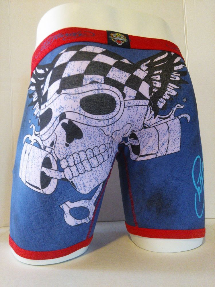 87b2caca92 Ed Hardy Men's Motorcycle Print Boxer Briefs Size Medium #EdHardy  #BoxerBrief