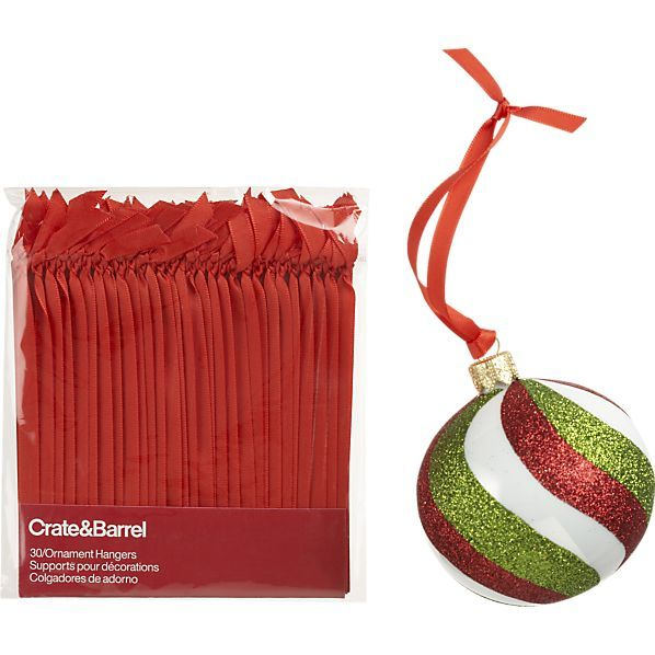 Set of 30 Ribbon Ornament Hangers in Christmas Ornaments  Crate