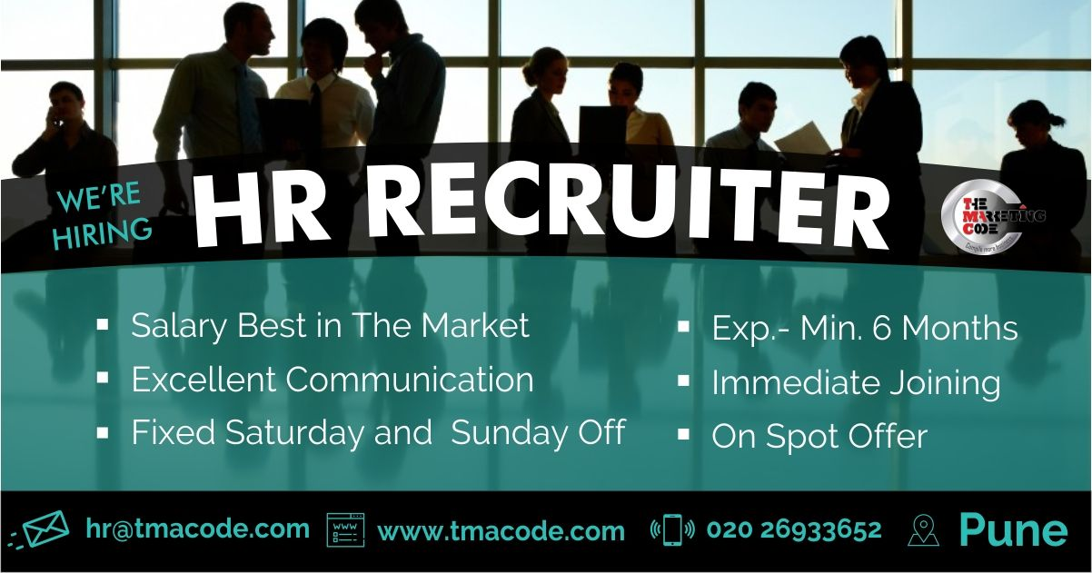 Hi All We Re Hiring Hr Recruiter For More Information Call On 020 26933652 Share Your Cv At Hr Tmacode Com Walk In Recruitment Career Management Hiring