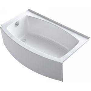 Kohler K 1100 Ra 0 Expanse White 60 X 38 Alcove Soaking Bathtub With Right Drain Soaking Bathtubs