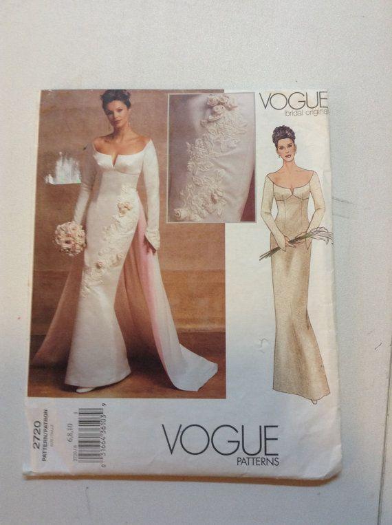Vogue 2720 Bridal Gown Sheath A Line Princess Dress Sewing Pattern ...