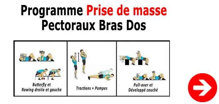 Programme Crossfit Dos-Bras-Pectoraux pour une prise de