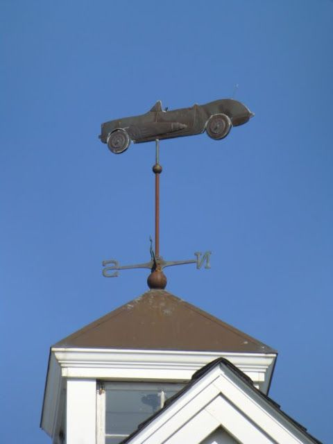 Weathervane Wednesday - Antique car seen in Rye, New Hampshire