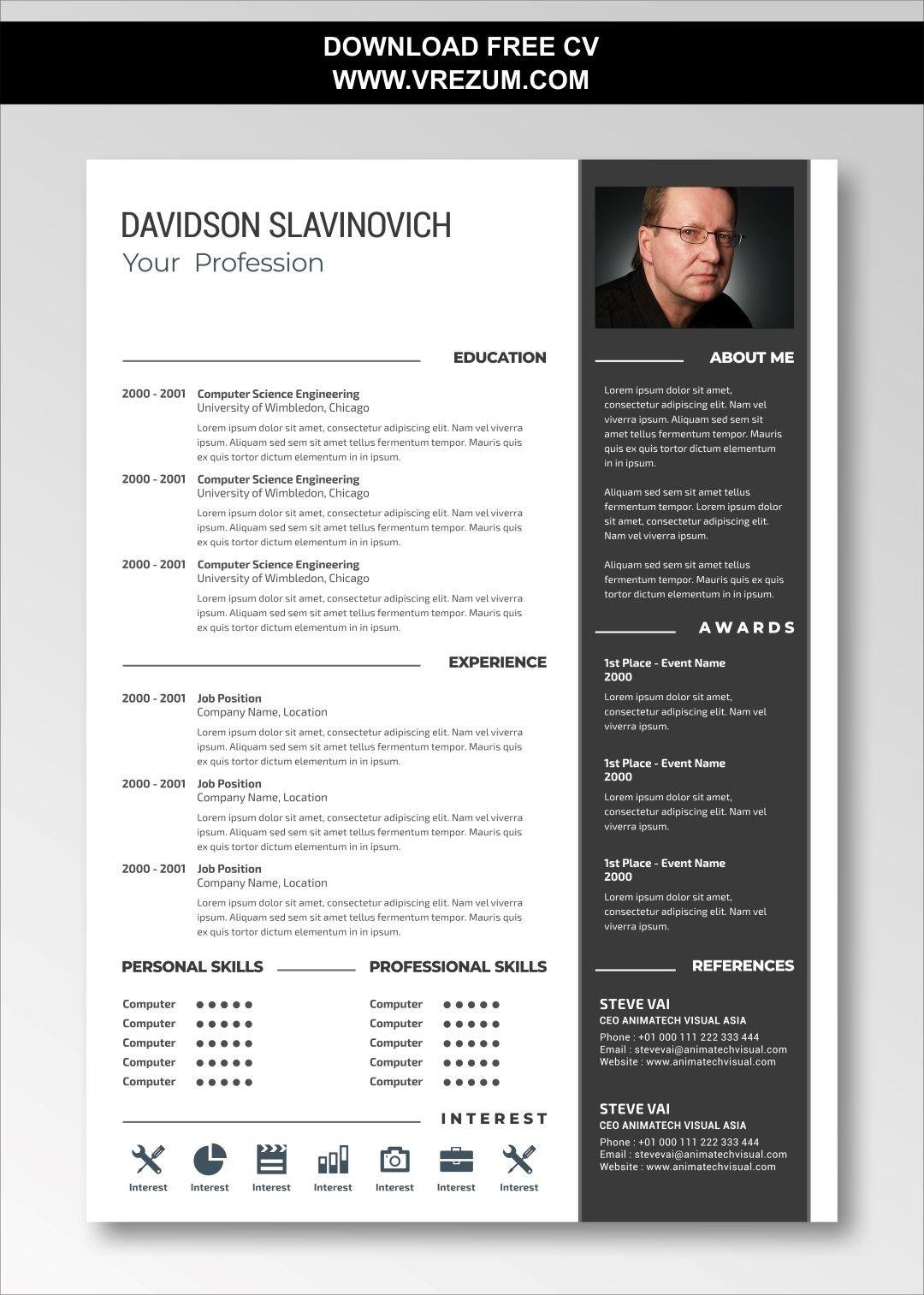 Editable Free Cv Templates For Cabin Crew Cv Template Free Cv Template Cv Templates Free Download