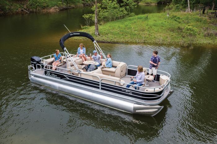 Sun Tracker Pontoon Boats >> Sun Tracker Boats Fishing Pontoons 2017 Fishin Barge 24