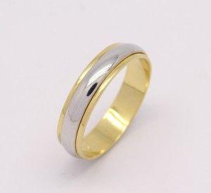 Par de Alianças Giratória 12 gramas Ouro Amarelo e Ouro Branco 18k ... 0db3f37db4