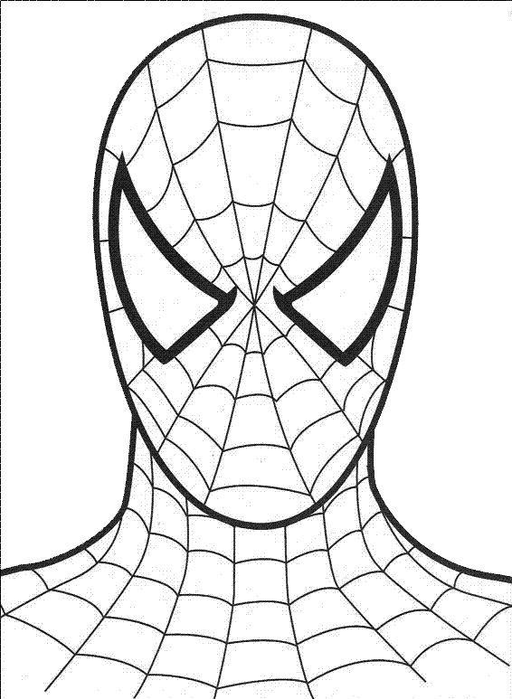 Spiderman Mask Coloring Pages 666 Jpg 566 773 Orumcek Orumcek