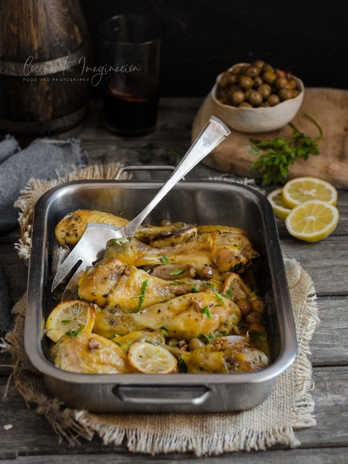 Pollo Al Limón Al Horno Con Aceitunas Receta Fácil Y Rápida Receta Pollo Al Limon Pollo Al Limón Al Horno Pollo
