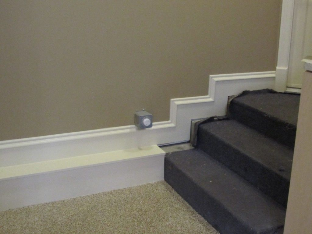 Stairs/baseboard Detail