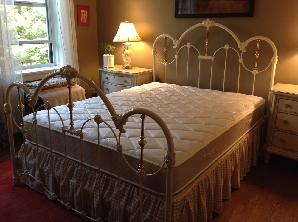 Elliott S Designs Inc Imperial Wrought Iron And Brass Bed Set