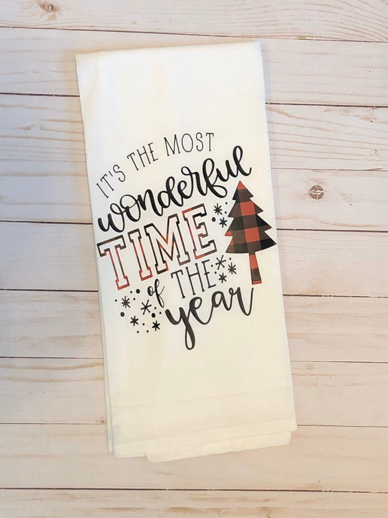Excited to share this item from my shop Holiday Season Tea Towel