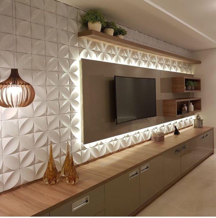 30+ Amazing TV Unit Design Ideas For Your Living Room, #amazing #design #ideas #living #Room ...