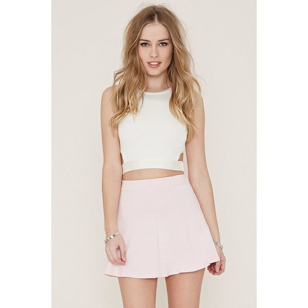 Forever 21 Women's  Knit Skater Skirt (85 CNY) ❤ liked on Polyvore featuring skirts, forever 21 skirts, forever 21, mini skater skirt, full length skirt and flared skirt