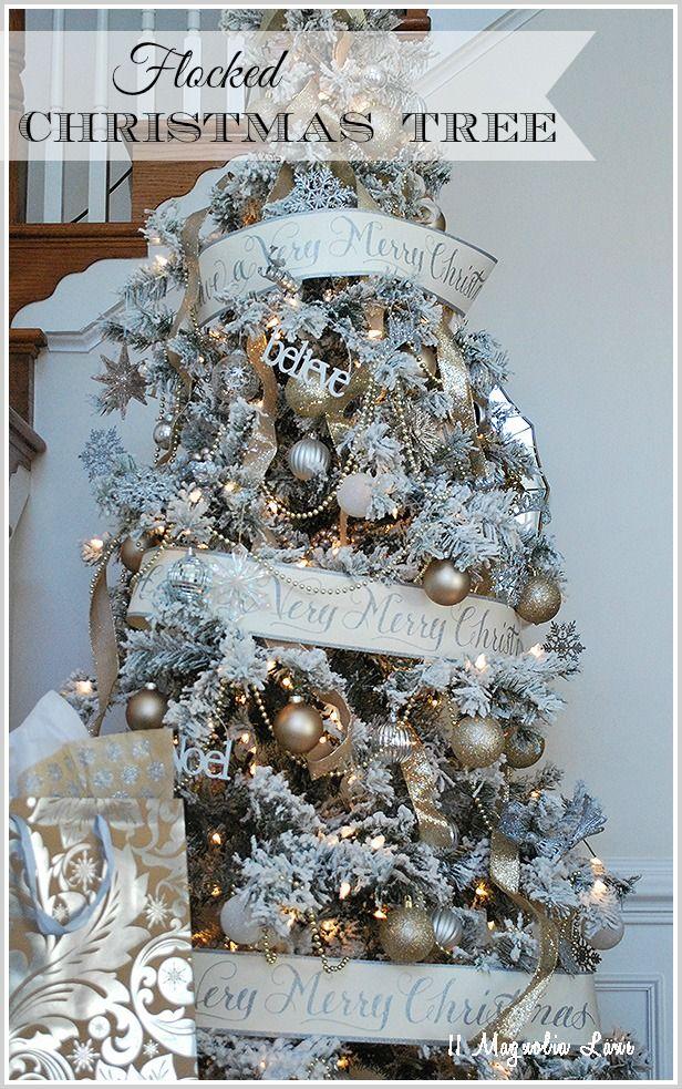 A Flocked Christmas Tree Flocked christmas trees
