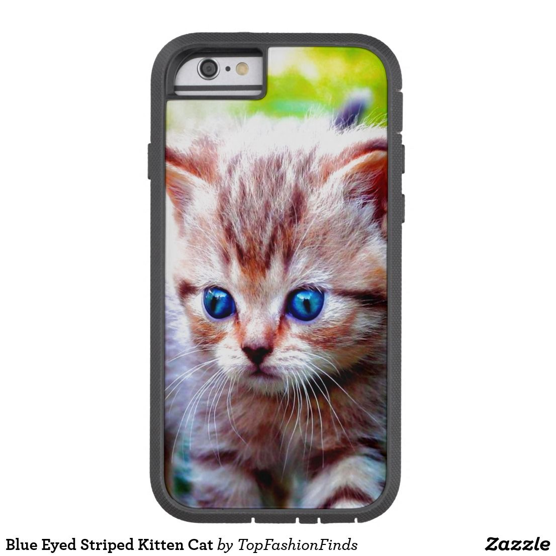 Blue Eyed Striped Kitten Cat Case Mate Iphone Case Zazzle Com Cats Case Cats And Kittens Kittens
