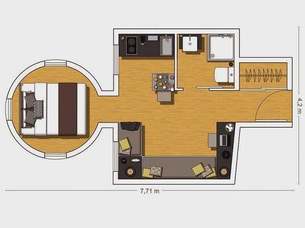 20 Square Meters Floor Plans 20 Sqm Design Pinterest