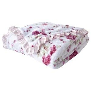 Simply Shabby Chic 174 Floral Cozy Blanket Pink Simply