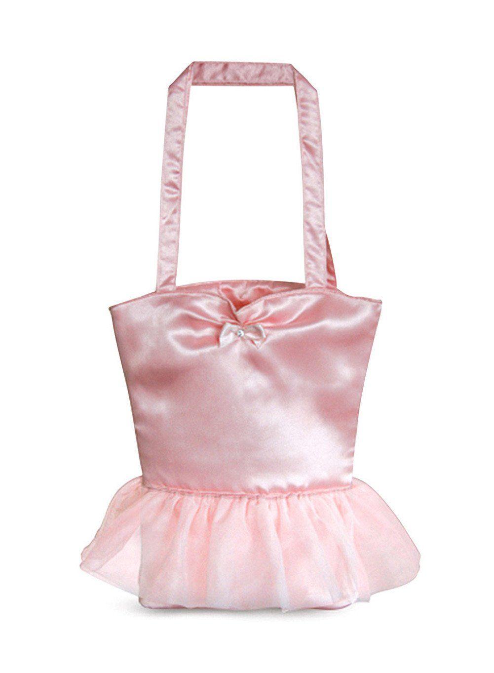 NWT Girls Pink Satin Dance Ballet Tap Jazz Tote Bag