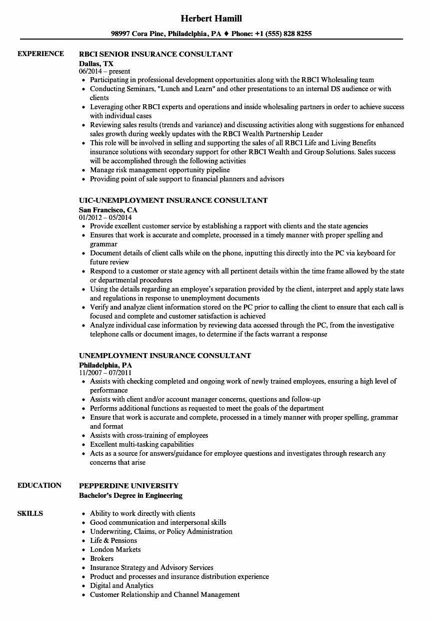 Insurance Verification Specialist Resume Unique Insurance