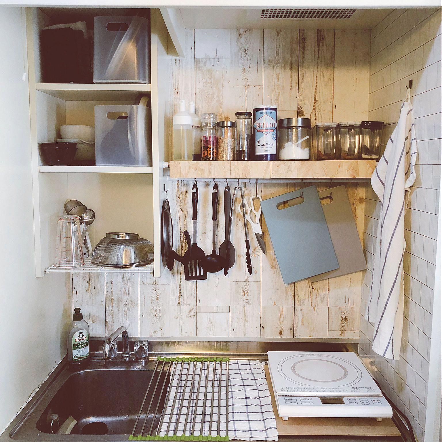 Kitchen ナチュラル Ikea 雑貨 Diy 一人暮らし などのインテリア実例 2018 05 12 09 20 03 Roomclip ルームクリップ Apartmentkitchen 狭いキッチン レイアウト 狭いキッチン 収納 インテリア 収納