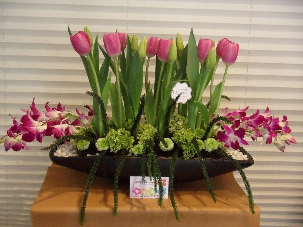 Arreglos Florales Orquideas Y Tulipanes Arreglos Florales