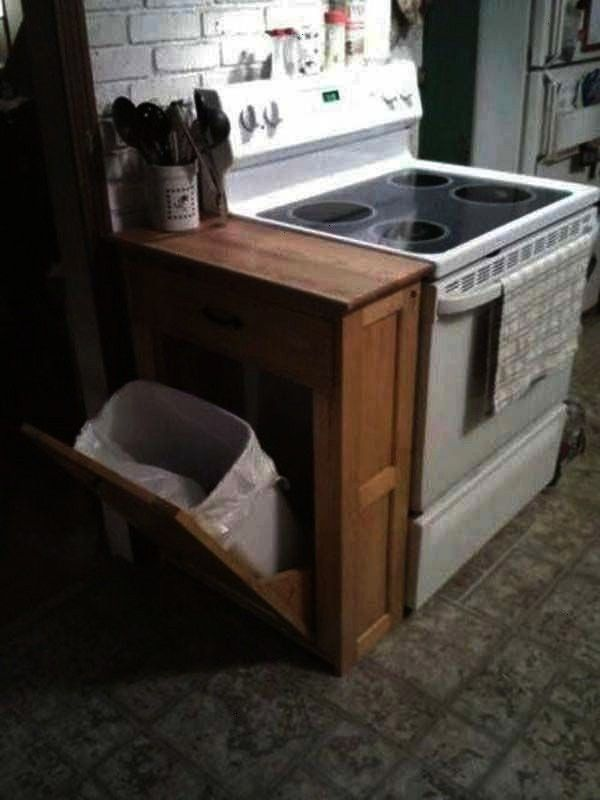 you want to have at home clever25 clever hidden projects you want to have at home clever DIY Wood Cabinet to Stash Your Trash Free Ship Rustic tilt out trash bin trash ca...