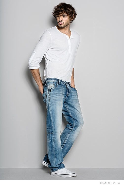 Guia De Pantalon Vaquero De H M Moda Ropa Hombre Moda Coreana Masculina Pantalones Rasgados De Hombre