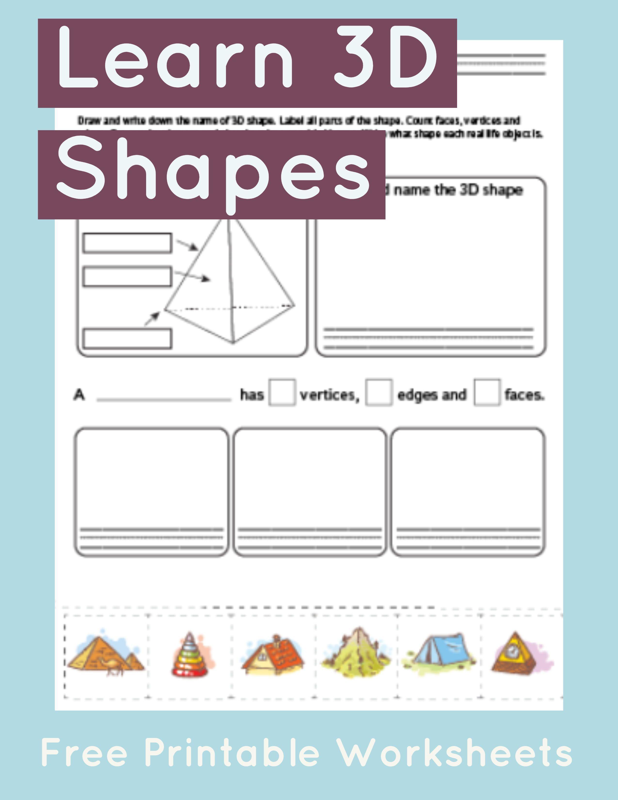 Pyramid Worksheet Primarylearning Org Shapes Worksheet Kindergarten Math Worksheets Free Math
