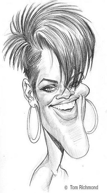 Rhyanna Caricature Caricature Drawing Music Drawings