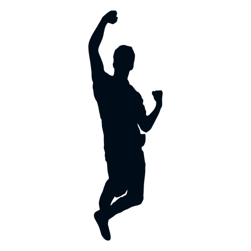 Happy Man Cheering Silhouette Transparent Png Svg Vector Download Free Best Quality On Clipart Email Person Silhouette Silhouette Man